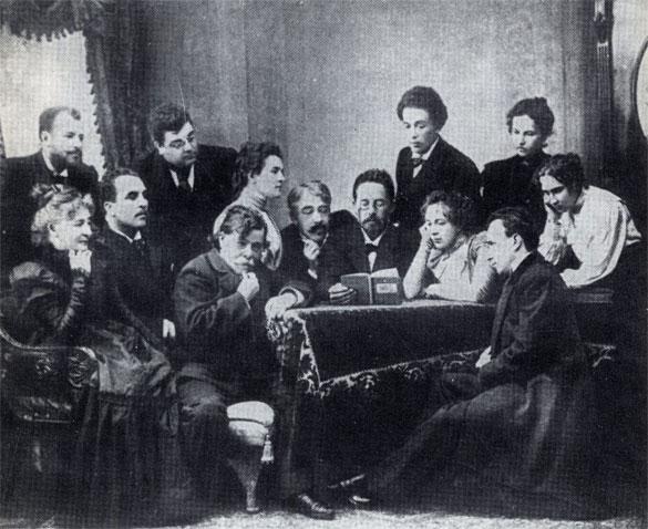 Чехов с артистами Московского Художественного театра