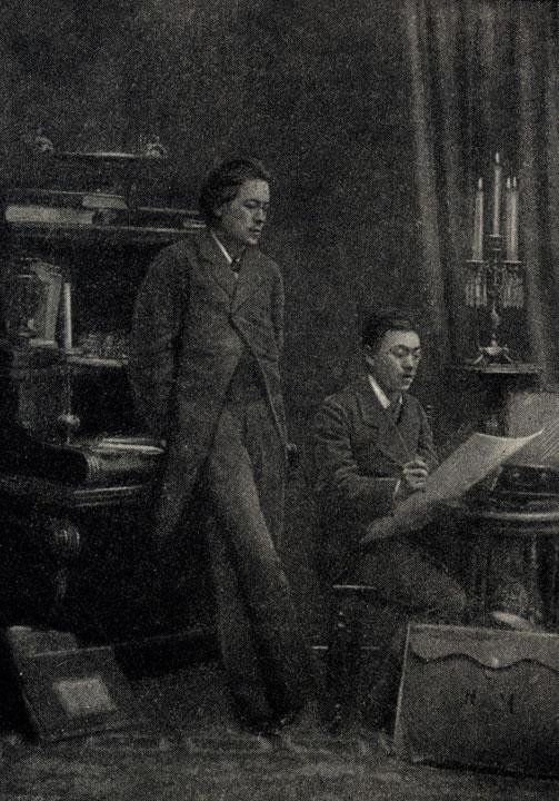 А. П. Чехов с братом художником И. П. Чеховым, сотрудничавшим вместе с ним в журналах. Фотография. 1883