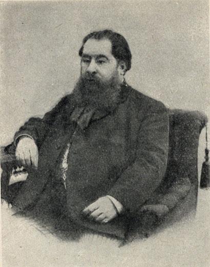Н. А. Лейкин, редактор юмористического журнала 'Осколки', в котором А. П. Чехов сотрудничал с 1882 по 1887 г. Фотография