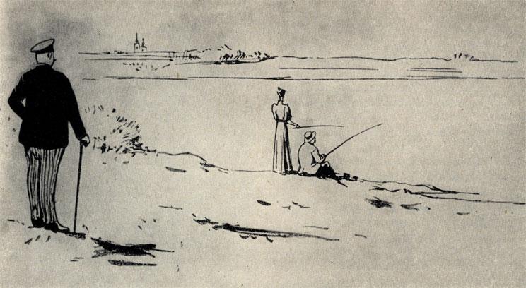 'Дочь Альбиона'. Рисунок Кукрыниксов. 1954