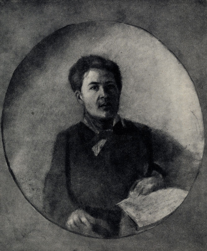 А. П. Чехов. Портрет работы И. П. Чехова. 1880