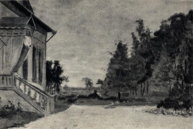 Бабкино. Копия М. П. Чеховой с этюда И. Левитана. 1885